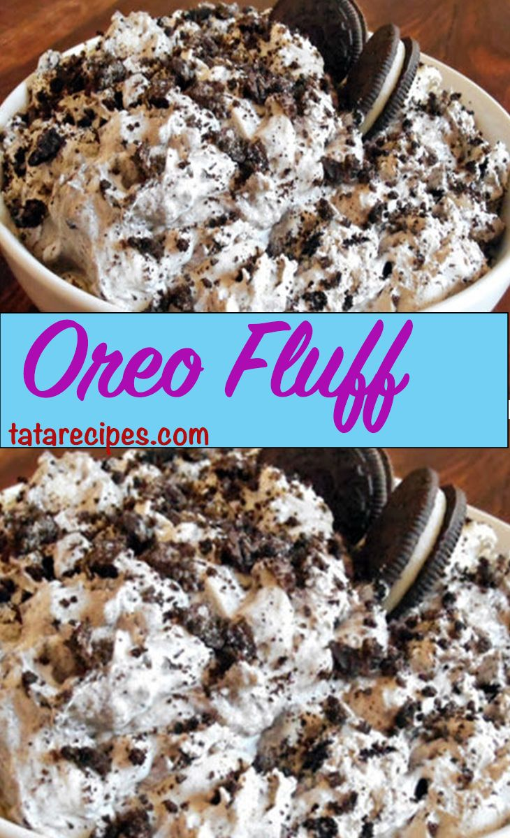 Oreo Fluff 3 smartpoints a serving!  Ingredients:  2 cups fat free cool whip thawed 1 small package fat free vanilla pudding (dry mix) 4 Oreo Cookies (crumbled and divided into 2)
