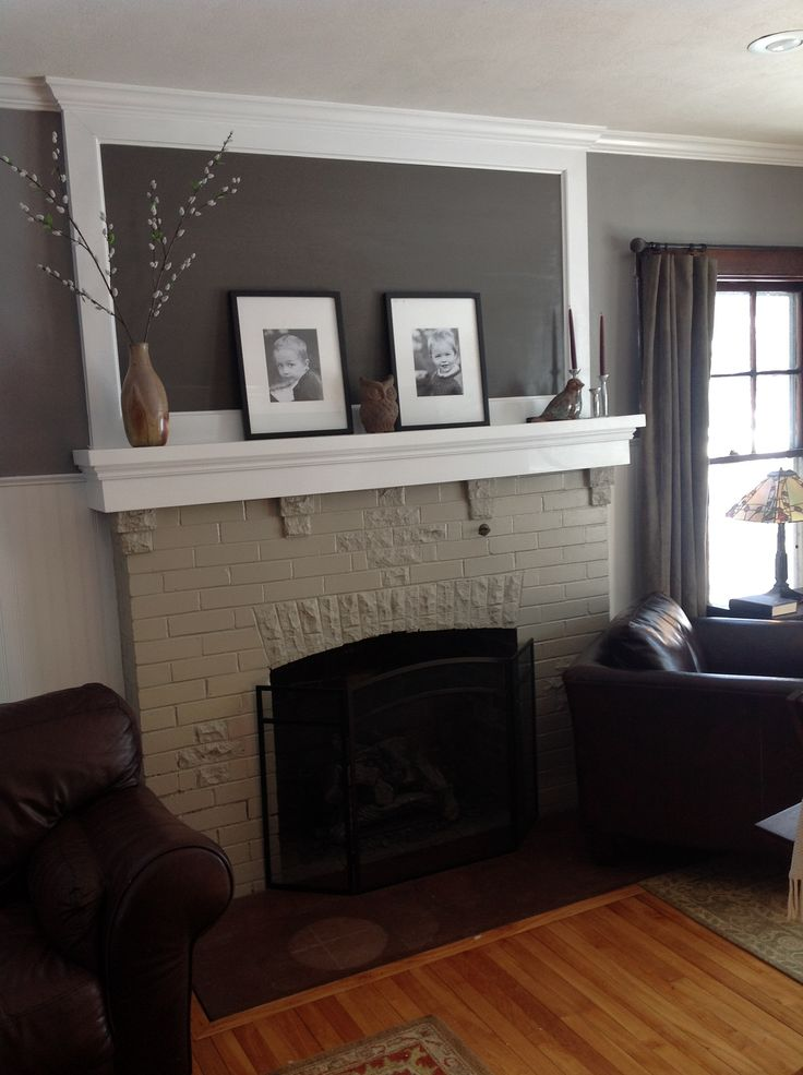 Dark trim, white beadboard, wainscoting, painted brick ...