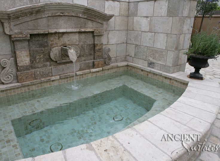 Our antique Flat Wall Stone Cladding that we clad the back walls of our fountains with are usually available in our local stocks.  For our main website please visit Ancient Surfaces and feel free to contact us via phone or email at:  US offices: 212-461-0245 // 212-913-9588  Sales@AncientSurfaces.com