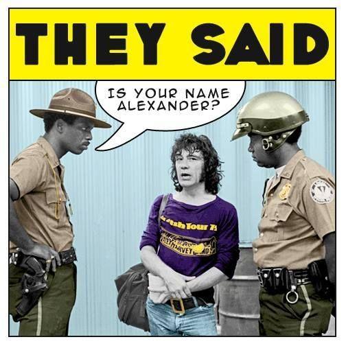 Alex Harvey meets US police..
