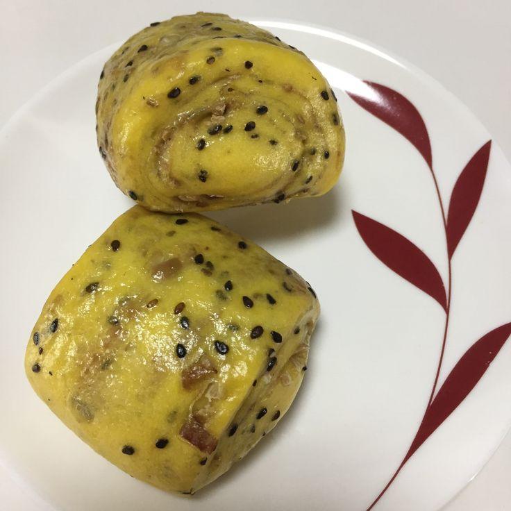 Pumpkin black sesame Chestnut Mantou