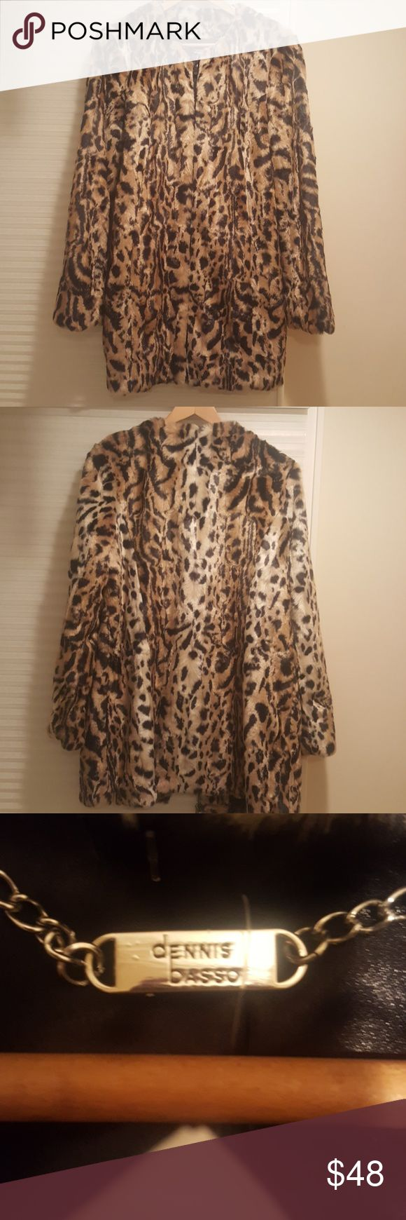 "Leopard Chic coat Incredibly soft, super chic leopard coat, zip up front, two outer and two inter pockets, fully lined.    *PLEASE NOTE:  This is a new with tags cost from a designer sample collection.  Though it is marked as a ""S"", its truly a M/L. Dennis Basso Jackets & Coats"