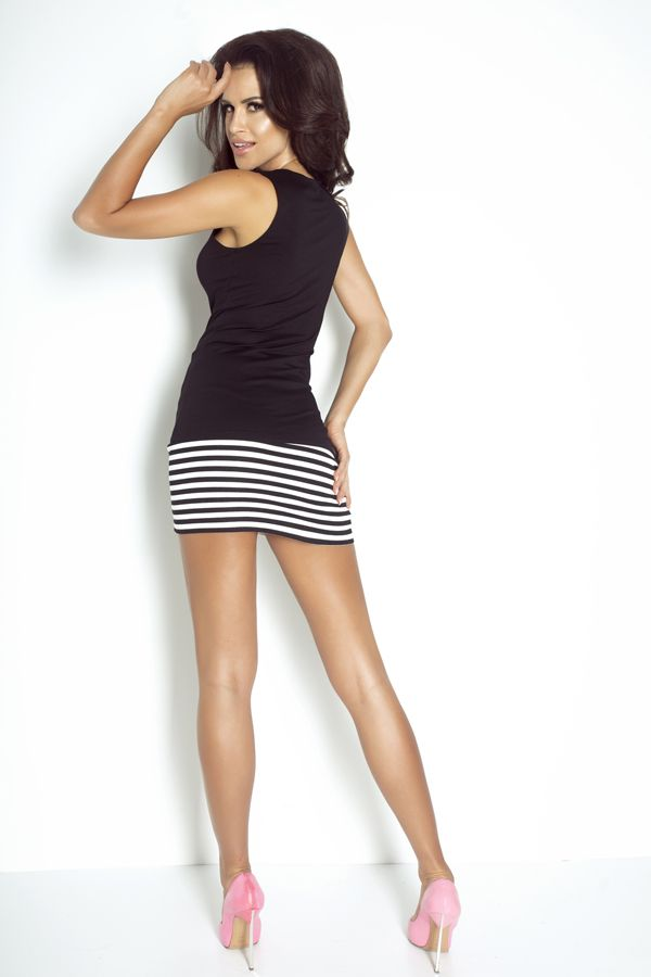 IVON Bestsellerowa spódnica w paski model sp50 ivon-sklep.pl  #skirt #paski #print #blackandwhite #polishfashion #modadamska