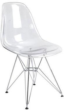 clear acrylic eiffel chair for my study - surprisingly comfy