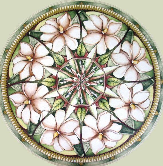 Magnolia Mandala by hollizollinger