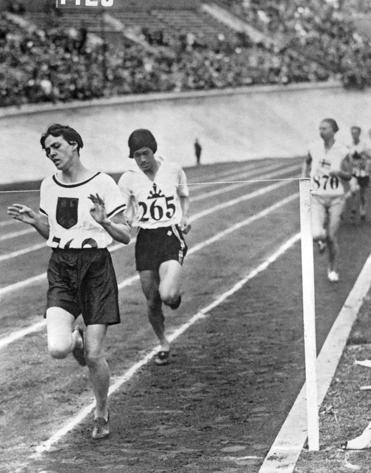 1928...The first year women are allowed to compete in track and field in the Olympics...