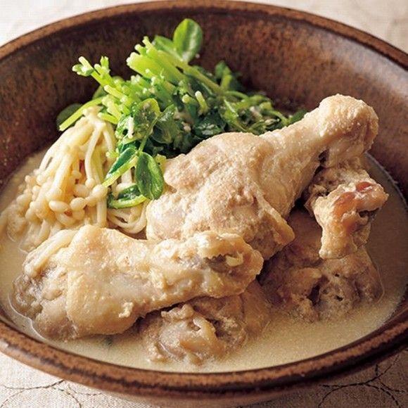 【低カロリーレシピ】コラーゲンたっぷり!冬の乾燥肌にうれしい「手羽元のごま豆乳煮」