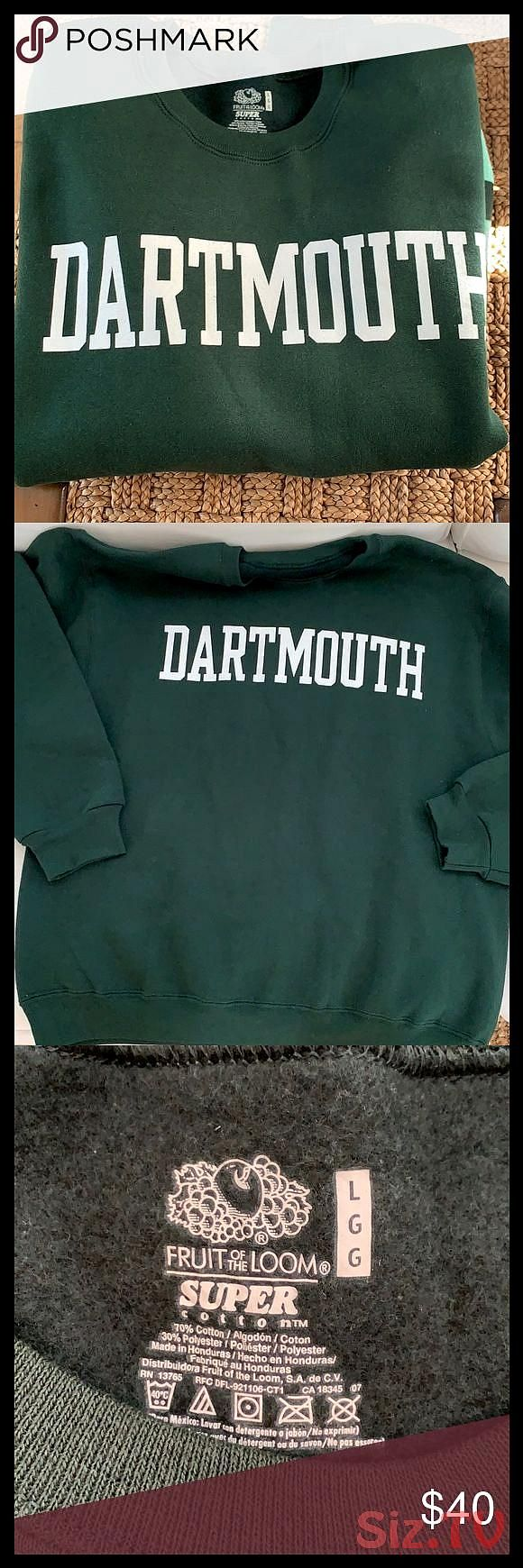 Dartmouth College Crew Sweatshirt Gender Neutral This Is A Beautiful Size Large Hunter Green Dartmouth Sweatshirt Sweatshirts Crew Sweatshirts Sweatshirt Tops [ 1740 x 580 Pixel ]