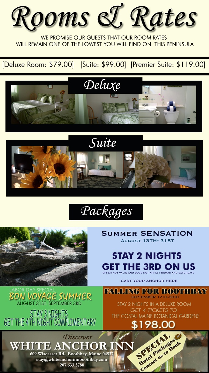 White Anchor Inn Boothbay - Official Homepage