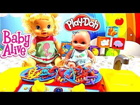 ❤ Куклы Пупсики Детская Кухня Цветные Спагетти Пластилин Плей До Мультик...