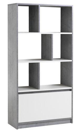 Könyvespolc BILLUND fehér szürke  b27def9358