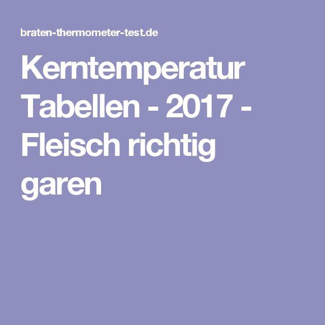 Kerntemperatur Tabellen - 2017 - Fleisch richtig garen