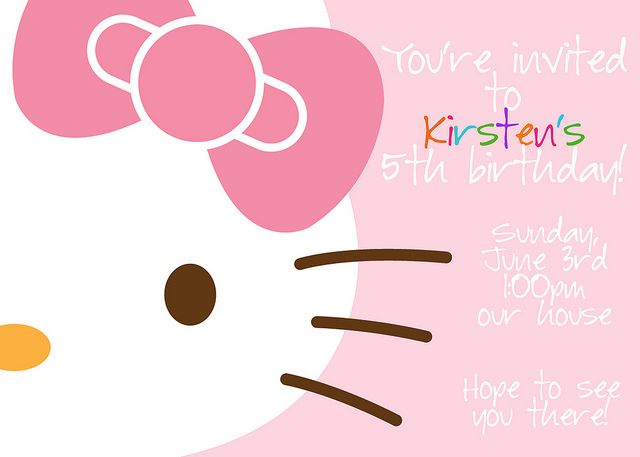 Hello Kitty -- Really cute ideas!!!!  kirsten5thbday16 by kirstenreese, via Flickr