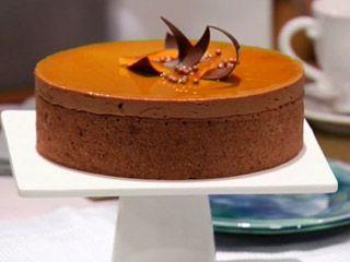 Torta de naranjas y chocolate