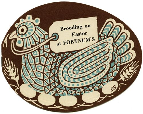 An illustration by Edward Bawden for Fortnum & Mason.  Taken from 'Entertaining À La Carte' by Peyton Skipworth.  Published by The Mainstone Press - December 2007. St. Jude's specialising in British printmaking