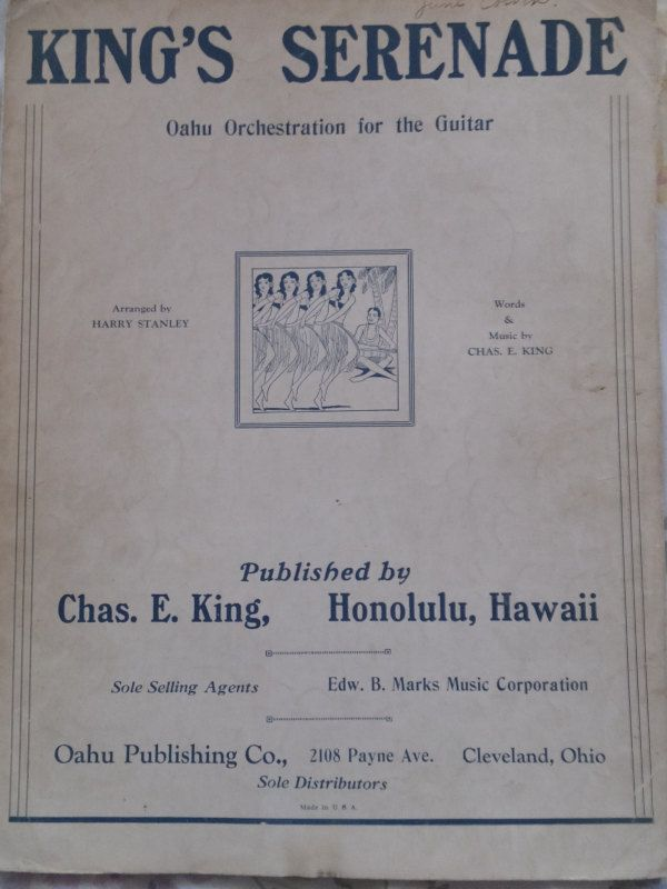 1916 King's Serenade Chas. E. King  Song Book Sheet Music by CindysCozyClutter on Etsy