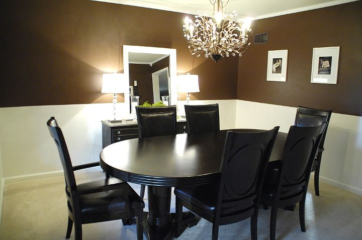 best 25 brown dining rooms ideas on pinterest diy dining room paint brown bathrooms. Black Bedroom Furniture Sets. Home Design Ideas