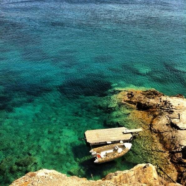 St. Nicolas bay in Folegandros