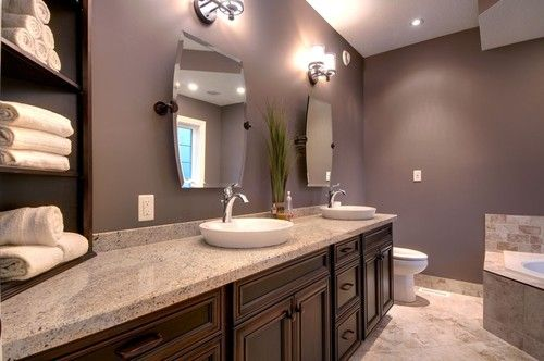 Dark Rosy Brown Colored For Bathroom Paint Color Pictures Of Bathroom Paint Color