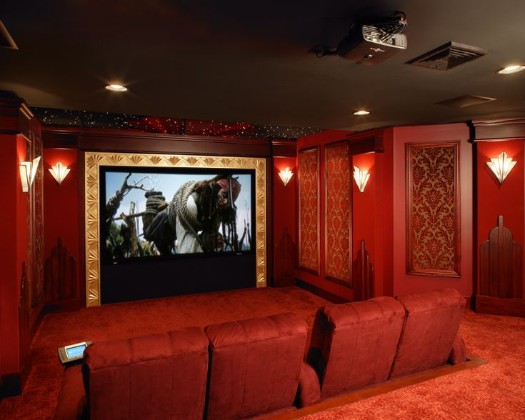 Basement Home Theater Electronic Equipment Was Installed By Media Rooms  Inc. All Woodworking Was Designed
