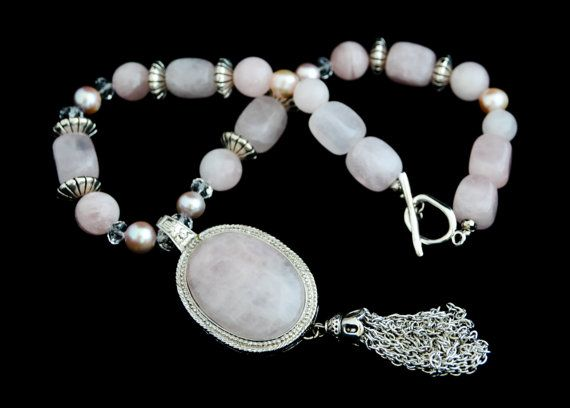 Check out this item in my Etsy shop https://www.etsy.com/listing/259660898/chunky-rose-quartz-necklace