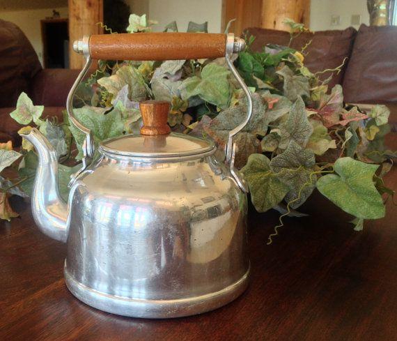 Farmhouse Teapot Aluminum Tea Kettle Rustic by ChicHippieVintage, $24.00