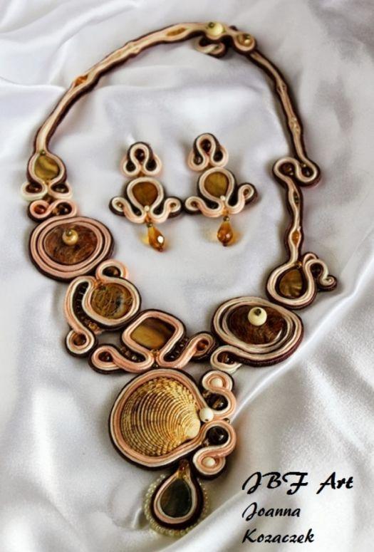 Soutache seashell necklace JBF Art