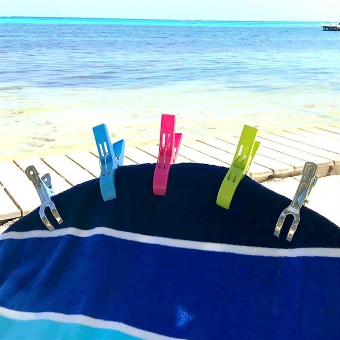 Beach Towel Clips 2 Pack Beach Towel Beach Picnic Tablecloth