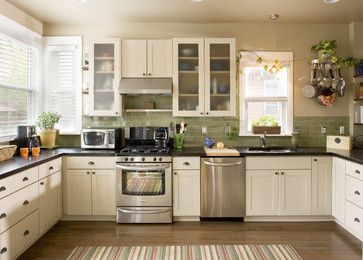 green subway tile kitchen backsplash | houzz.comGreen Subway Tile Backsplash