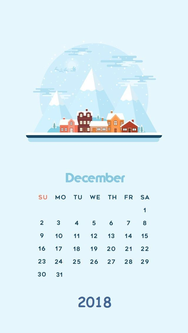 December Iphone Calendar Wallpaper 2018 Screensavers Wallpapers