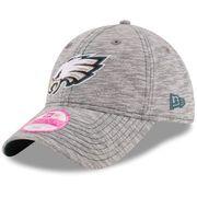 Women's Philadelphia Eagles New Era Gray Team Mist 9TWENTY Adjustable Hat