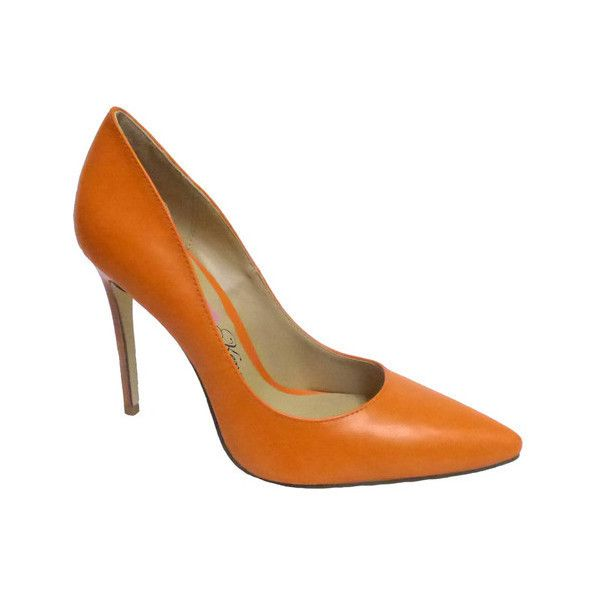 Women's Penny Loves Kenny Opus Pump ($67) ❤ liked on Polyvore featuring shoes, pumps, casual, high heels, orange, orange pumps, sexy pumps, stiletto pumps, pointed toe stilettos and high heel stilettos