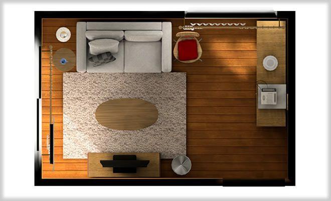 狭い6畳リビングをナチュラルコーディネート&レイアウト例 - インテリアハート