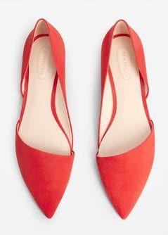 Pantofi cu bot ascuțit fără toc
