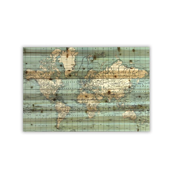 Gallery 57 World Map Graphic Art