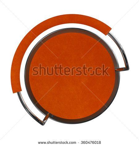 Orange bar stool top view