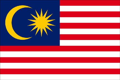 Thanks to Malaysia model Kartika Sari Dewi Shukarno. Beautiful flag. (I'm an American, and I love those stripes.)