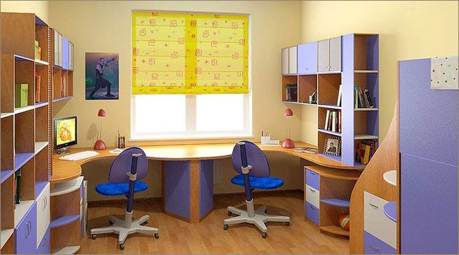 Компьютерный стол для двоих