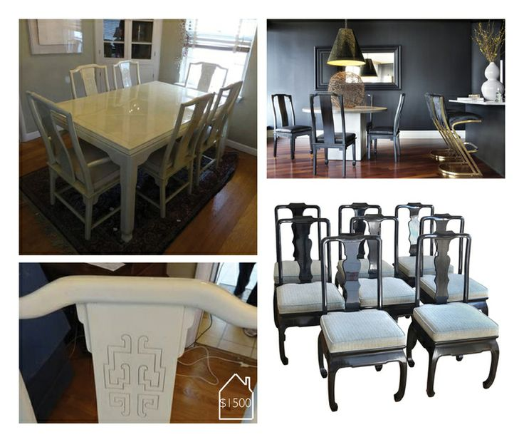 Hollywood Regency Asian Dining Set | THE PLACE HOME