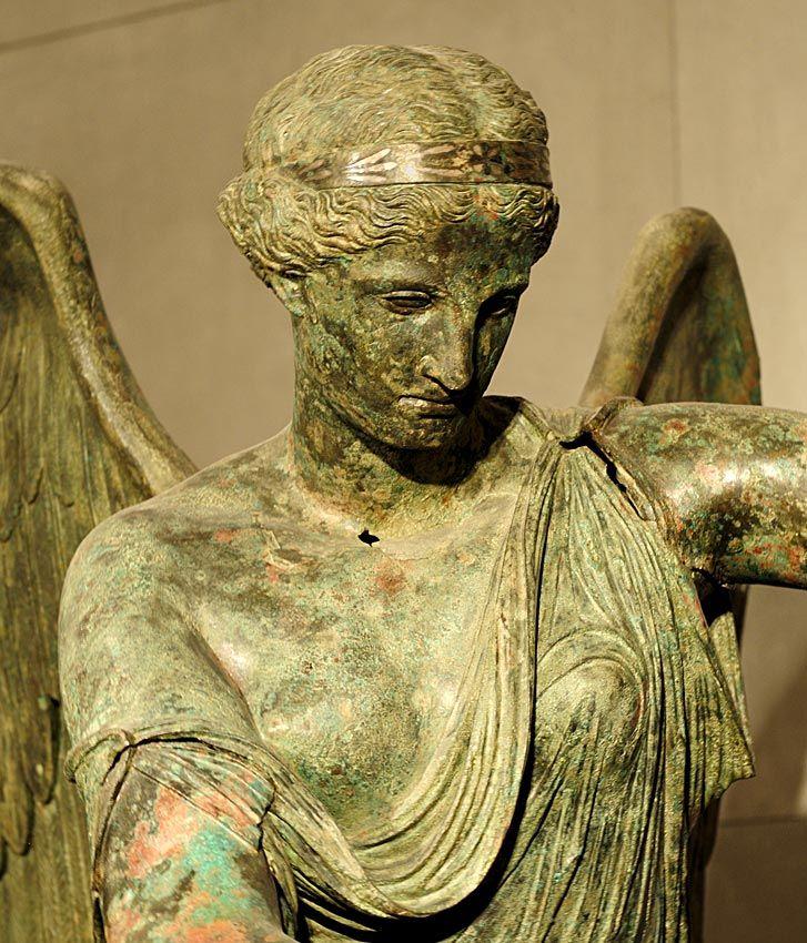 Winged Victory. Detail. Bronze. 1st century CE. Inv. No. MR 369. Brescia, Santa Giulia Civic Museum. (Photo by I. Sh.).