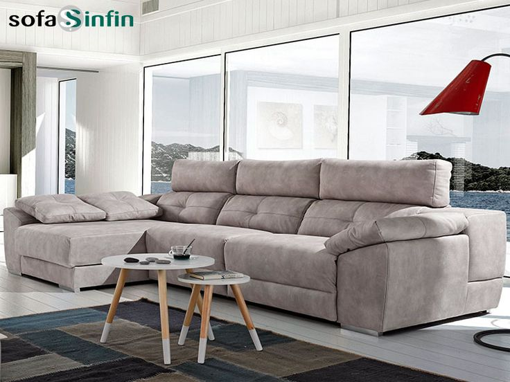 Sofá Relax De 3 Y 2 Plazas Con Chaise Longue Modelo Memory Fabricado Por  Acomodel
