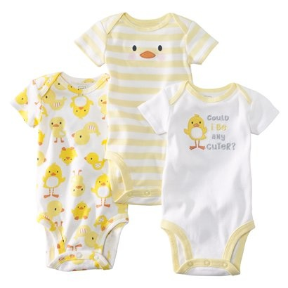JUST ONE YOU ™ Made by Carter's ® Infant Boys' 3-Pack Bodysuit -Yellow.Opens in a new window