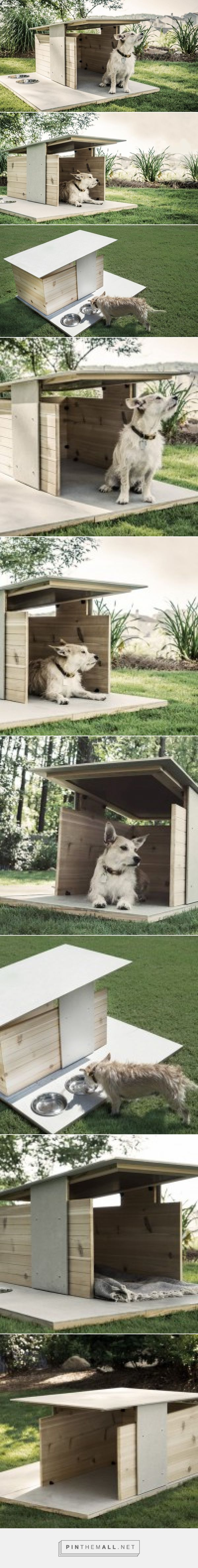 Two Atlanta-Based Designers Create An Architecturally Inspired Dog House | CONTEMPORIST - created via http://pinthemall.net