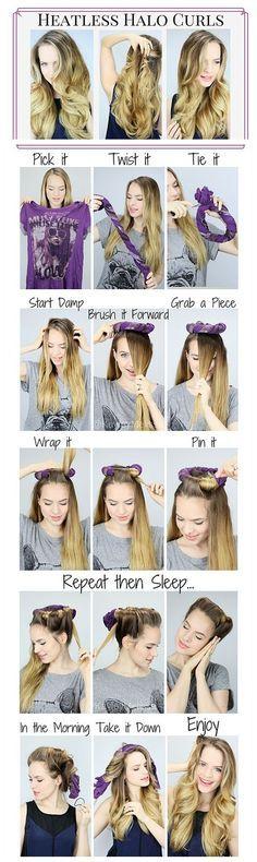 Pleasant 1000 Ideas About Wet Hair Overnight On Pinterest Tight Curly Short Hairstyles Gunalazisus