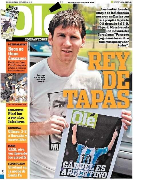 Domingo 14 de Octubre del 2012. http://www.ole.com.ar/la-tapa/