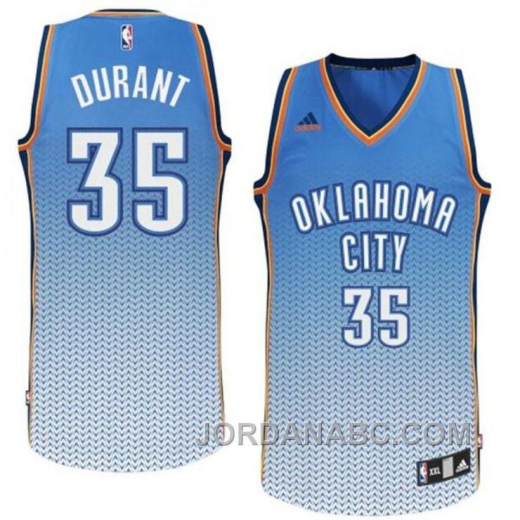 Kevin Durant Oklahoma City Thunder #35 New Resonate Fashion Swingman Jersey