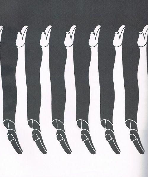 Illustion d'optique de Shigeo Fukuda (1932-2009) sculpteur, graphiste et affichiste japonais.