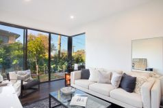 Large sitting room opens to deck & garden
