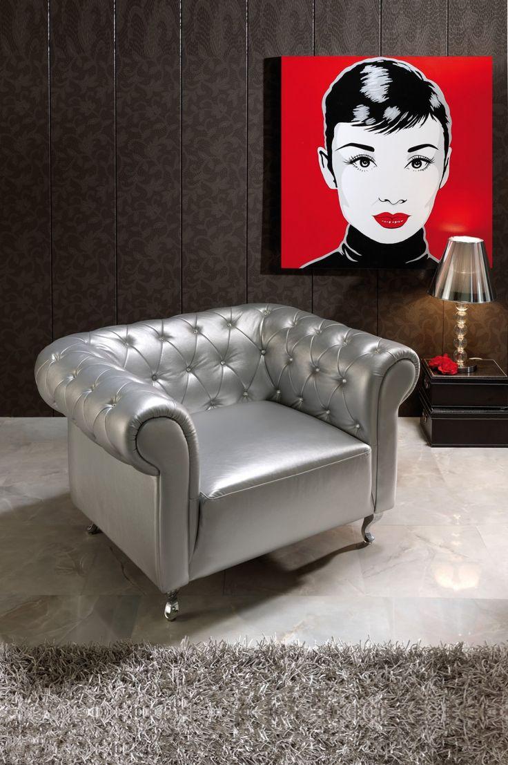 Armchair. Silver / Gold Oro / Plata
