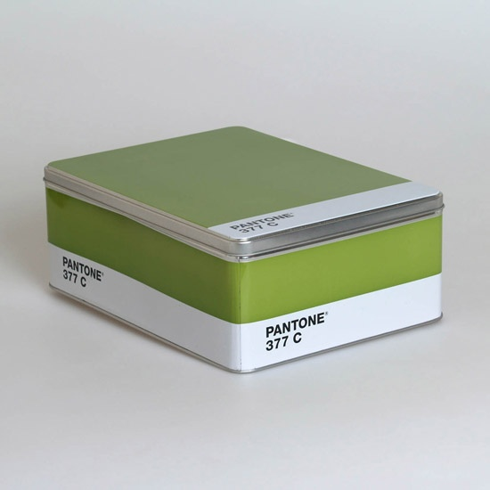 PANTONE STORAGE TIN- GREEN $22